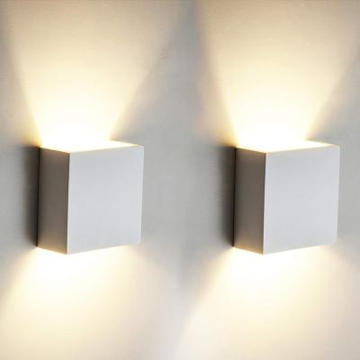2 Pcs. 6w Led De Pared Arriba Abajo Lámpara De Pared Interior Moderno Aplique De Pared Accesorios De Iluminación Para La Sala De Estar Dormitorio