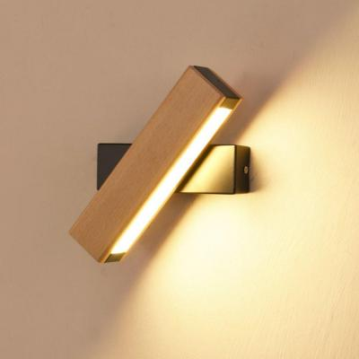 LED Apliques Interior giratorio Multi de modelo iluminación de pared aluminio Madera Madera Color lámpara de pared Cama Decorativa