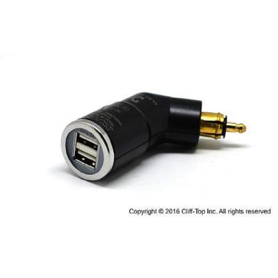 24V 36W Pantalla LED Digital Para Adaptador Cargador para Coches Motocicleta o Barco Motos USB de Cargador QC3.0 Cargador R/ápida de Dos Puertos USB Aluminio 12V