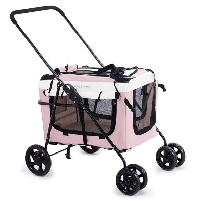 Display4top Pink Pet Travel Cochecito Perro