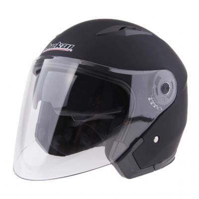 KKmoon Casco de Moto Abierto Ajustable con Visera Casco de Protector