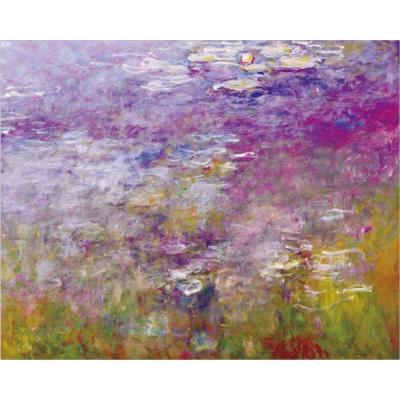 Renzhen Imprimir Claude Monet Loto Paisaje Pintura Al óleo Sobre Lienzo Arte Impresionista