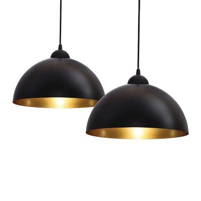 B.K.Licht Vintage Lámpara de techo I Retro I Colgante I Black