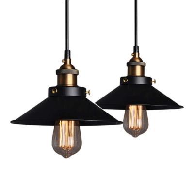 2 Piezas Industrial Luz Colgante Retro Luz de Techo Vintage lámpara Edison Colgante de Luz
