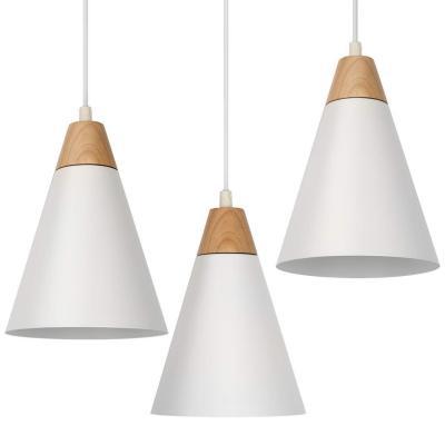 Tomons Lámpara De Techo Led Lámpara Colgante Blanco Kit De 3 Escandinavo Moderno
