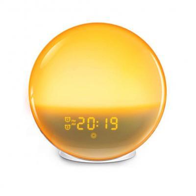 Chang Despertador Led De 7 Colores Con Radio Fm De Despertador Con Luz Nocturna Que Simula El Amanecer