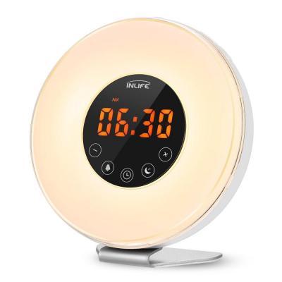 INLIFE Wake Up Light Despertador de Luz con 7 Colores Ajustables 6 Sonidos Naturales y 10 Intensidades de Luz Radio FM Control Táctil con USB                                                                                                       Clase de eficiencia energética A+++