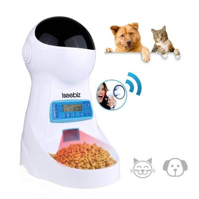 Iseebiz Comedero Automtico Gatos Perros Dispensador Comida Para Mascotas Con Recordatorio Por Voz Y Temporizador Programable