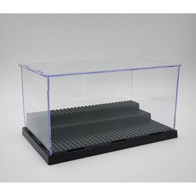 Papi Max minifigras Caja de Almacenamiento para Minifiguras Negro Studs Base