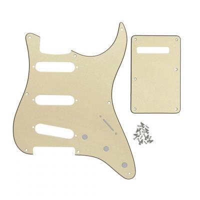 IKN Aluminio grande hoja SSS golpeador estándar para el estilo Strat guitarra reemplazo