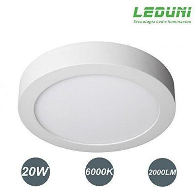 Downlight Panel Superficie Led Circular 20w Plafon Redondo Para Techo
