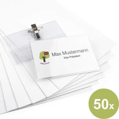 50 Carteles para nombres profesionales Premium de plástico