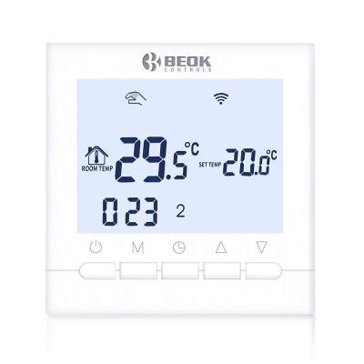 Beca 95 ~ 240VAC 3A Smart Wifi LCD pantalla t/áctil inal/ámbrico programable por suelo radiante Termostato DE calefacci/ón DE AGUA BHT-6000GALW Negro